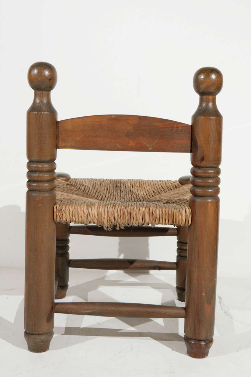 Late th century wood and rush fireplace stools at stdibs