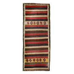 Large Wool Persian Kilim Runner