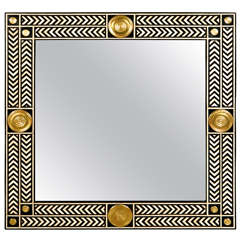Paul Marra Hand Painted Herringbone Mirror