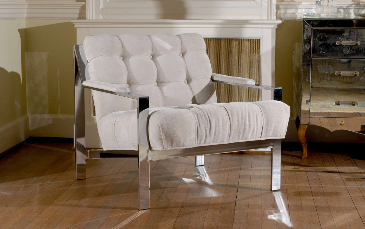 These magnificent lounge chairs are shipped as professionally photographed and described in the listing narrative: Meticulously professionally restored and installation ready. Expert custom upholstery service is available.  A beautiful restored pair