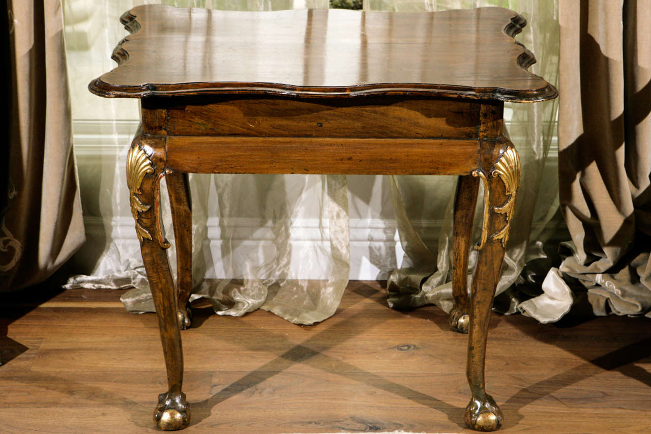 Irish Walnut Occasional Table With Ball And Claw Feet The Has