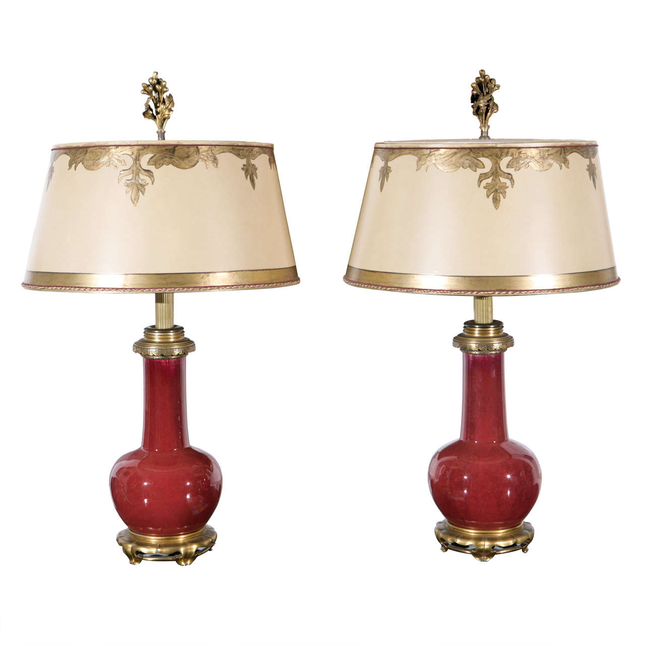 Pair of 19th c chinese sang de boeuf porcelain vase lamps at 1stdibs chinese sang de boeuf porcelain vase lamps for sale reviewsmspy
