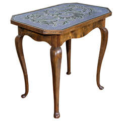 18th Century Austrian Occasional Table with Hand Beaded Top