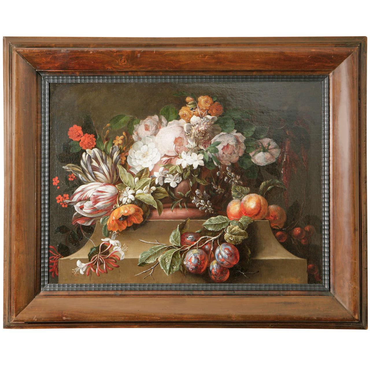 18th Century Dutch Still Life Oil Painting