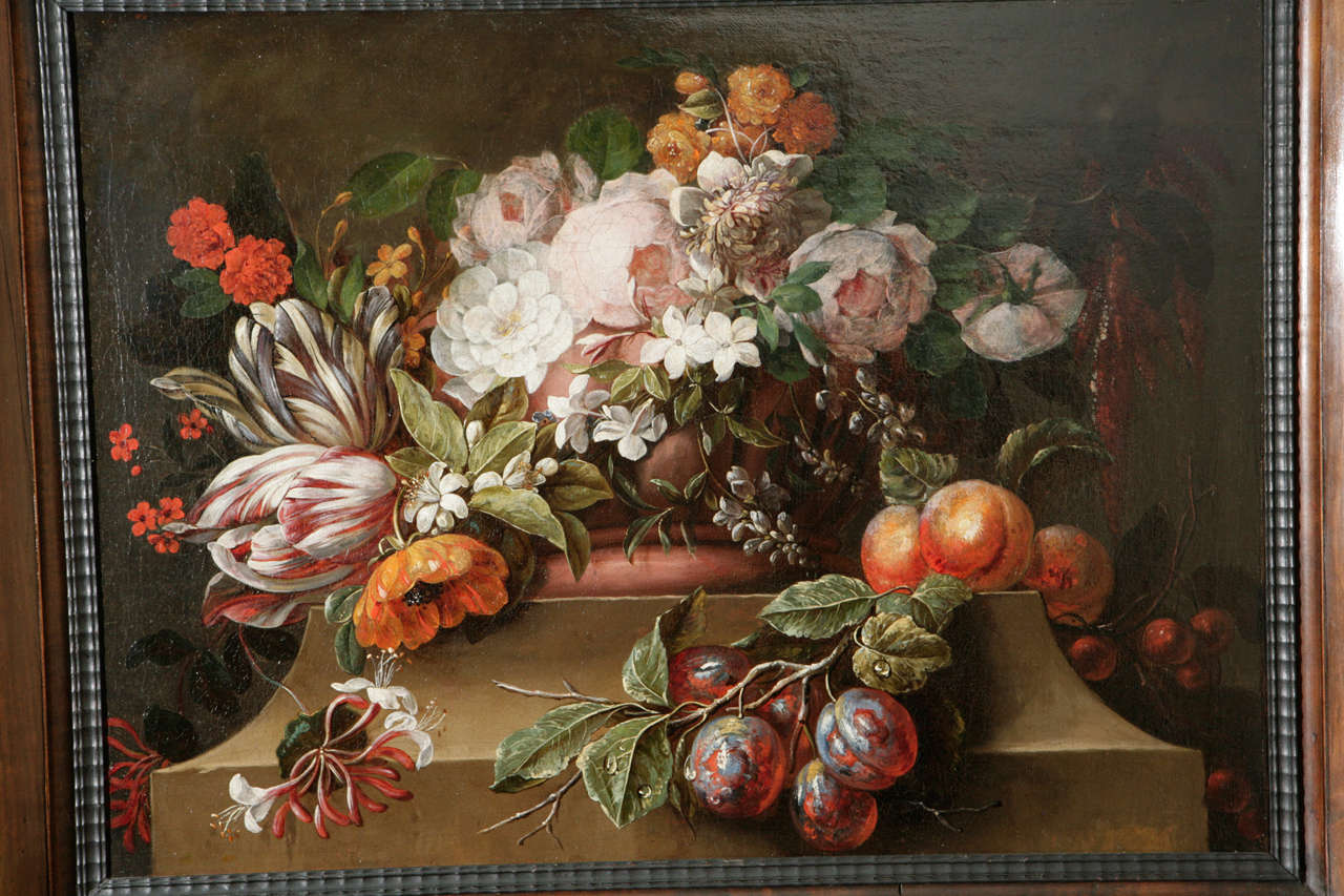 18th Century Dutch Still Life Oil Painting In Excellent Condition For Sale In Los Angeles, CA