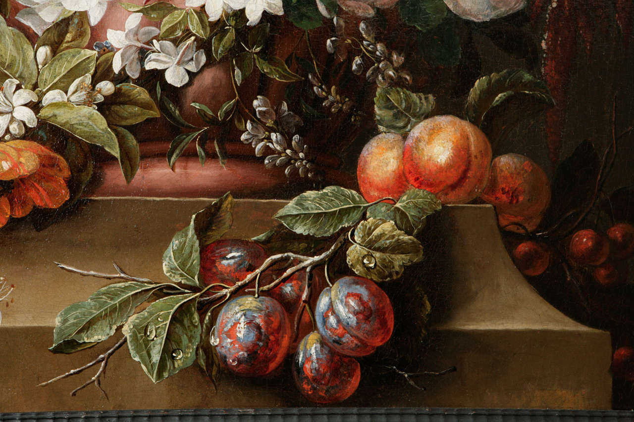 18th Century Dutch Still Life Oil Painting For Sale 3