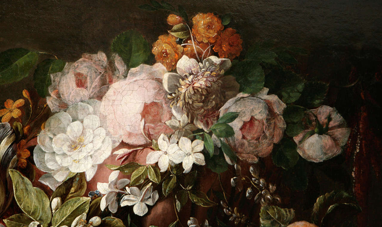 18th Century Dutch Still Life Oil Painting For Sale 5