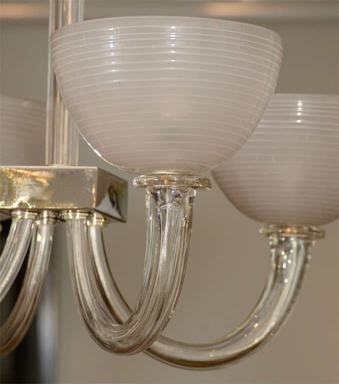 a murano four light glass ceiling fixture at 1stdibs. Black Bedroom Furniture Sets. Home Design Ideas