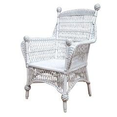 Antique Victorian Wicker Armchair