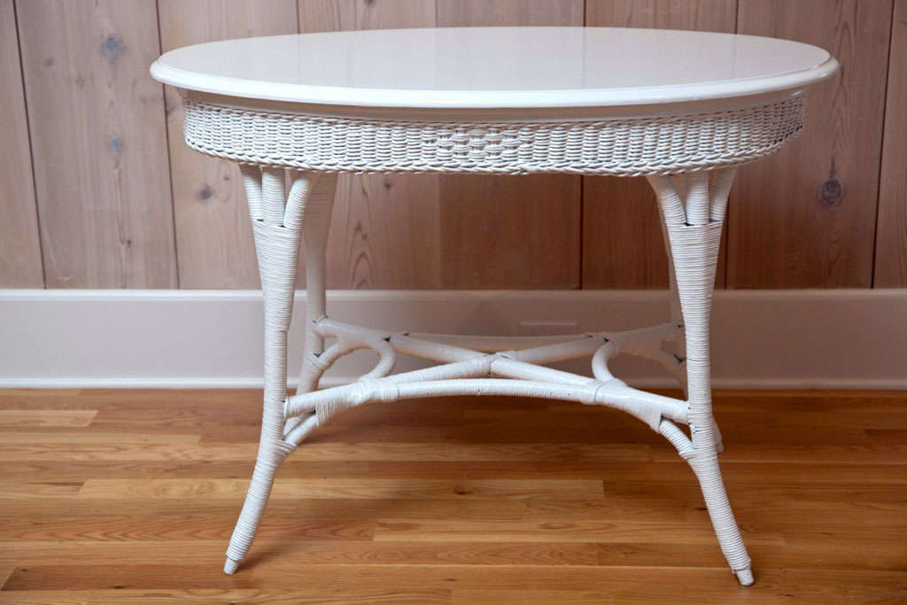 Oval Wicker Table For Sale At 1stdibs