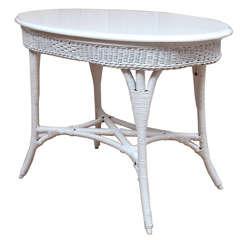 Oval Wicker Table