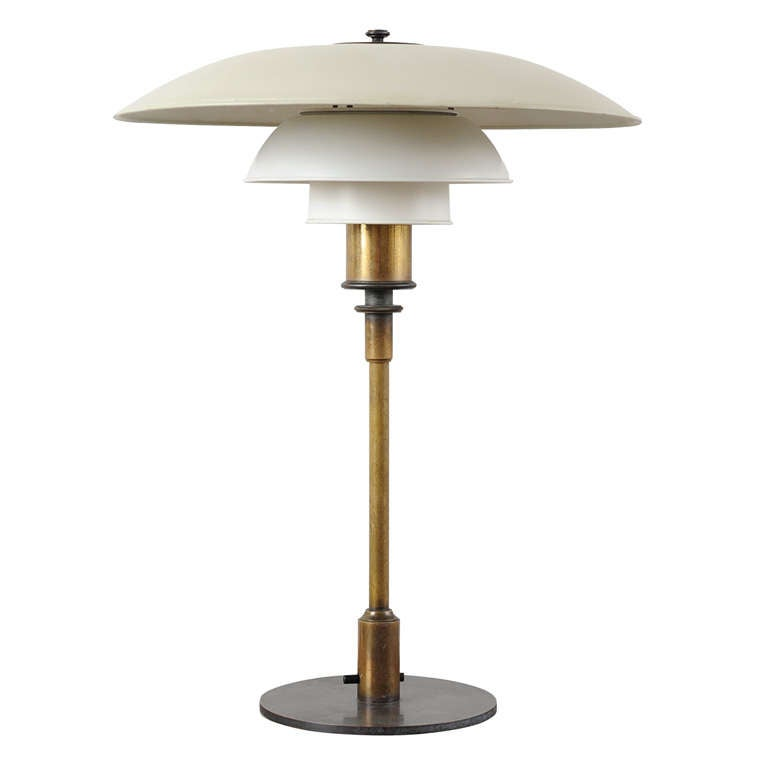 "Poul Henningsen PH4/3 Table Lamp, Stampled ""Pat. Appl"""