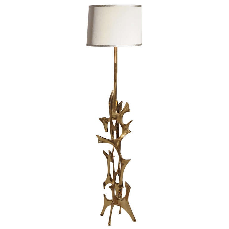 Fred BROUARD Bronze Floor Lamp at 1stdibs