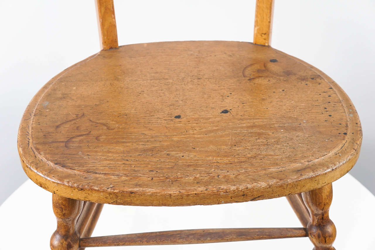 Early 20th Century Interesting Austrian Turn of the Century Ladderback Chair For Sale