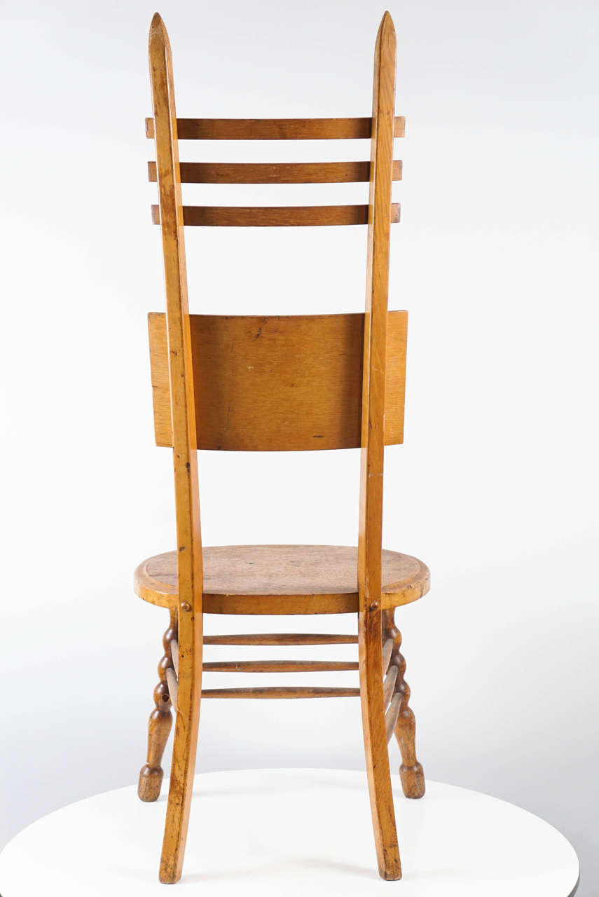 Interesting Austrian Turn of the Century Ladderback Chair For Sale 3