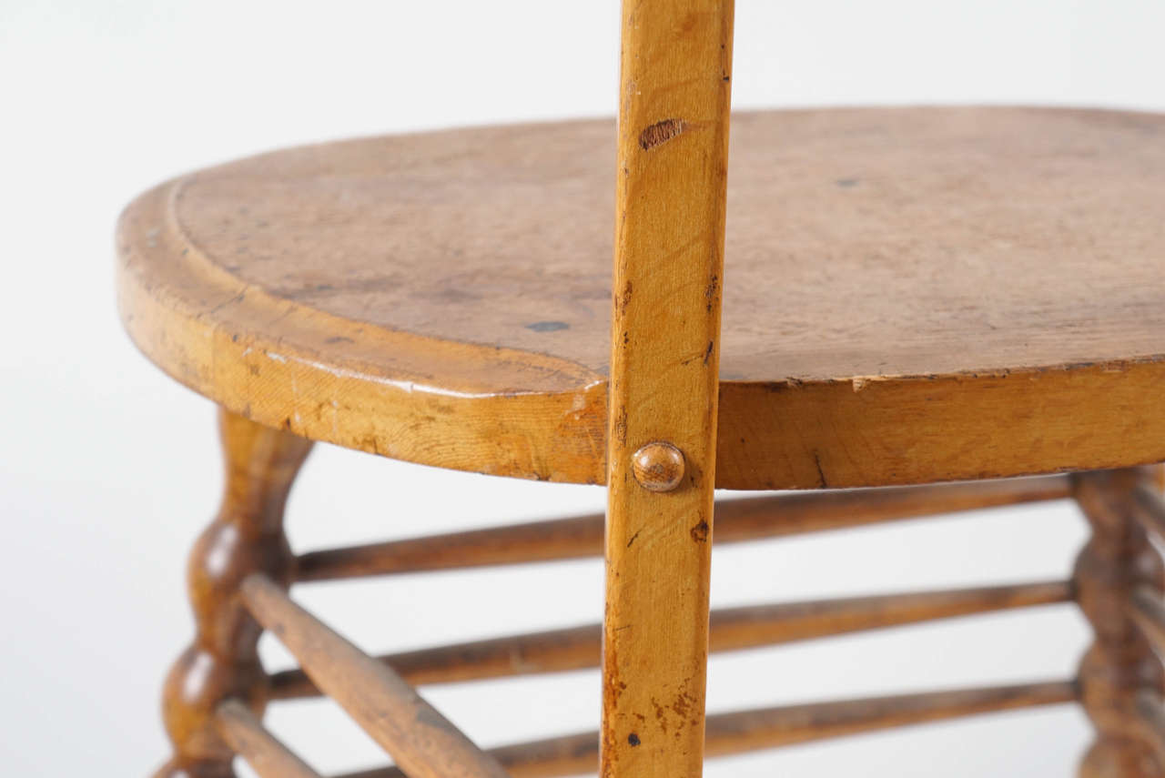 Interesting Austrian Turn of the Century Ladderback Chair For Sale 4