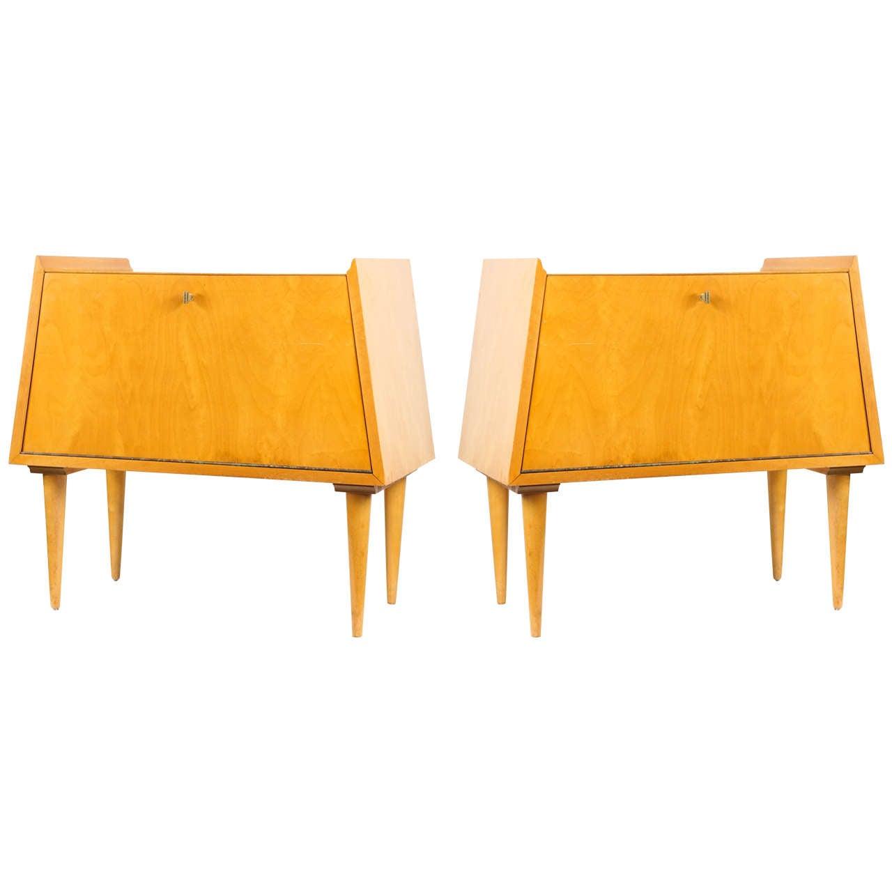 Pair of Edmund Spence Bedside Tables