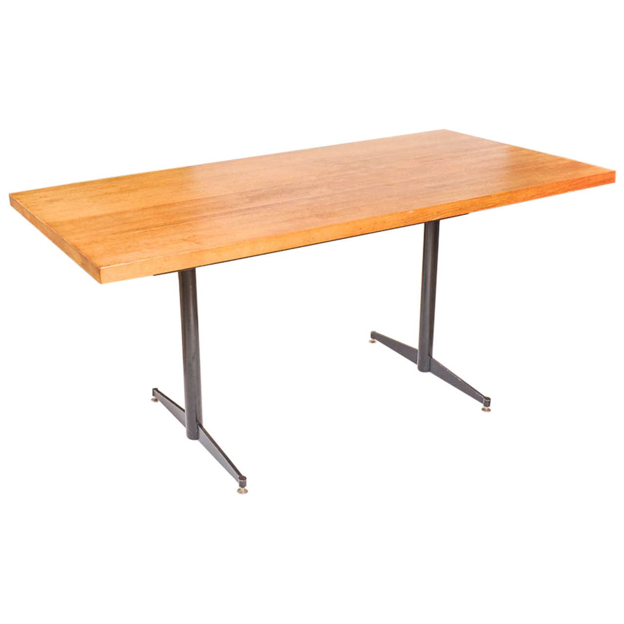 Eames Style Dining Table Made of Solid Oak and Black Steel  : X from www.1stdibs.com size 1280 x 1280 jpeg 40kB