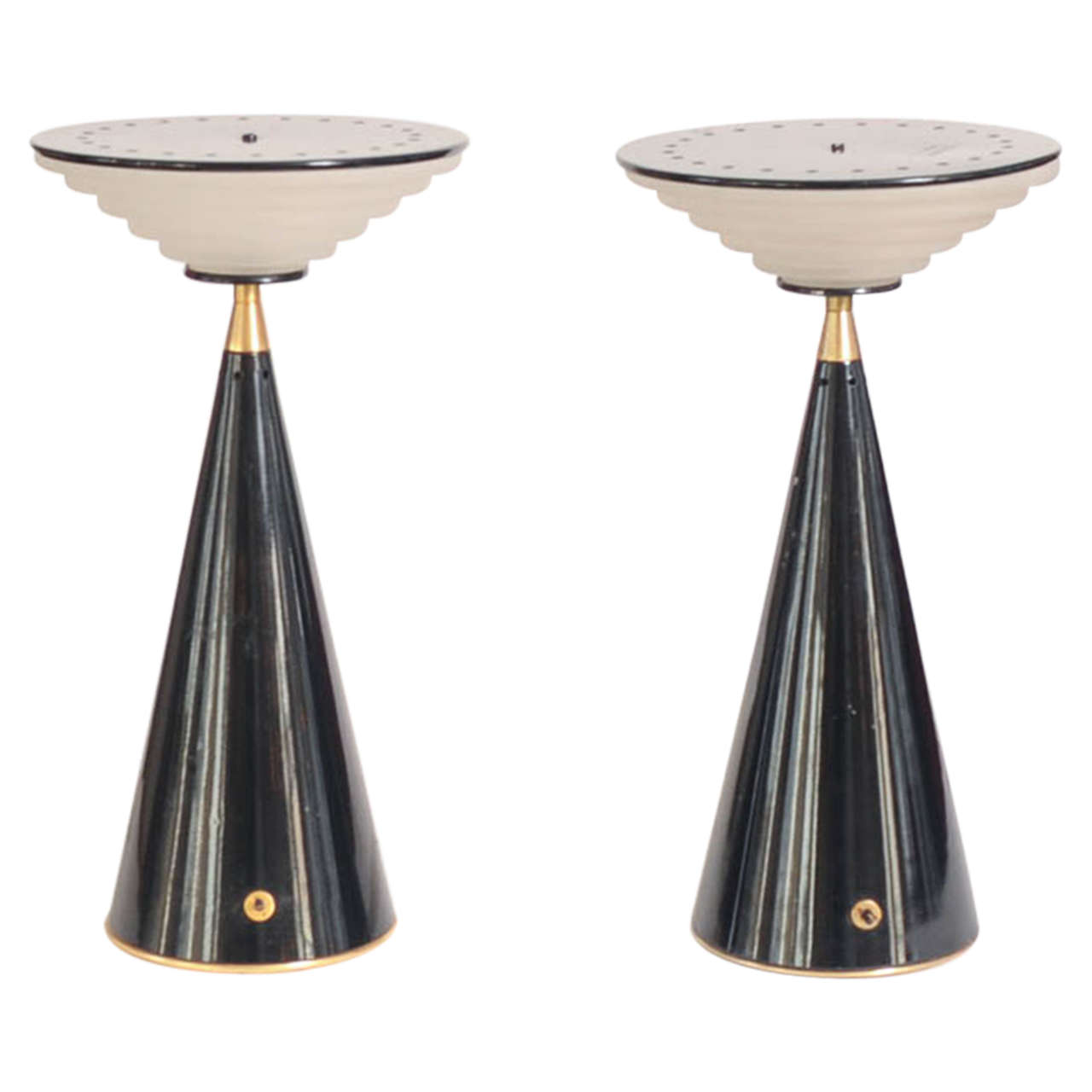 Set Of Two Table Lamps Set Of Two Table Lamps Ziggurat By Shigeaki Asahara For Stilnovo