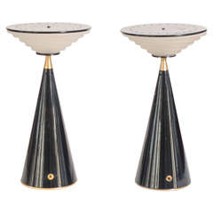"Set of Two Table Lamps ""Ziggurat"" by Shigeaki Asahara for Stilnovo"
