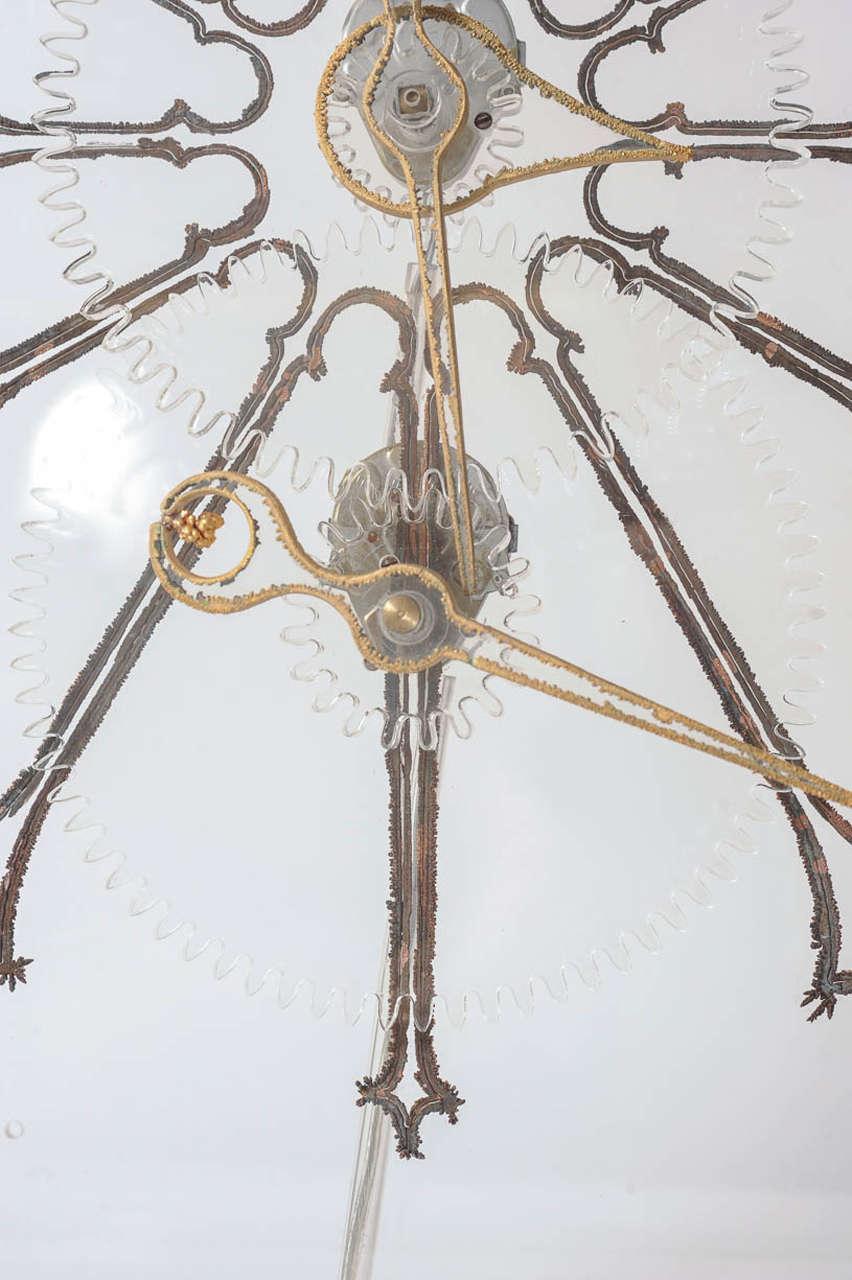 Very Rare Mid-Century Modern Plexiglass XXL Table Clock by Boris Tabacoff For Sale 1