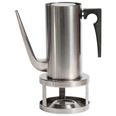 Cylinda Coffee Pot and Stove by Arne Jacobsen for Stelton