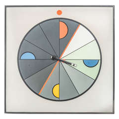 Oversized Wall Clock in Memphis Style by Morphos