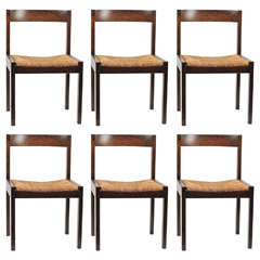 Set of Six Elegant Dining Chairs by Martin Visser for 't Spectrum