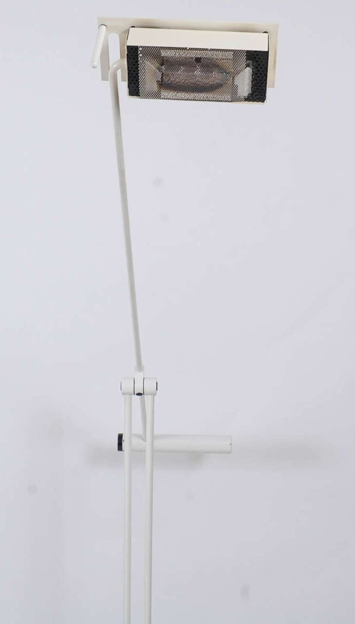 Steel 1970s Adjustable Floor Lamp by Stilnovo For Sale