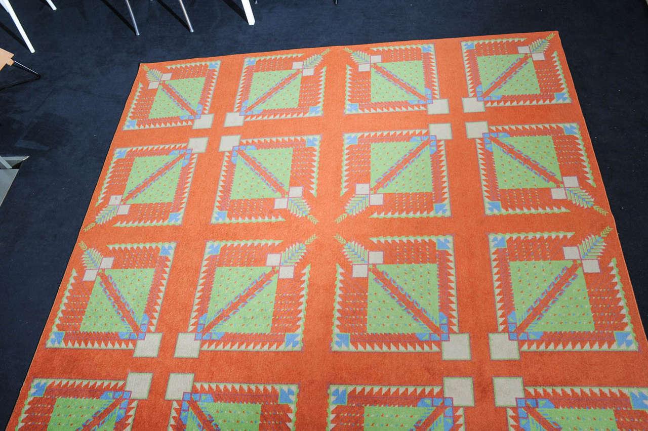 Large scale arizona biltmore hotel rug by frank lloyd wright at 1stdibs - Frank lloyd wright area rugs ...