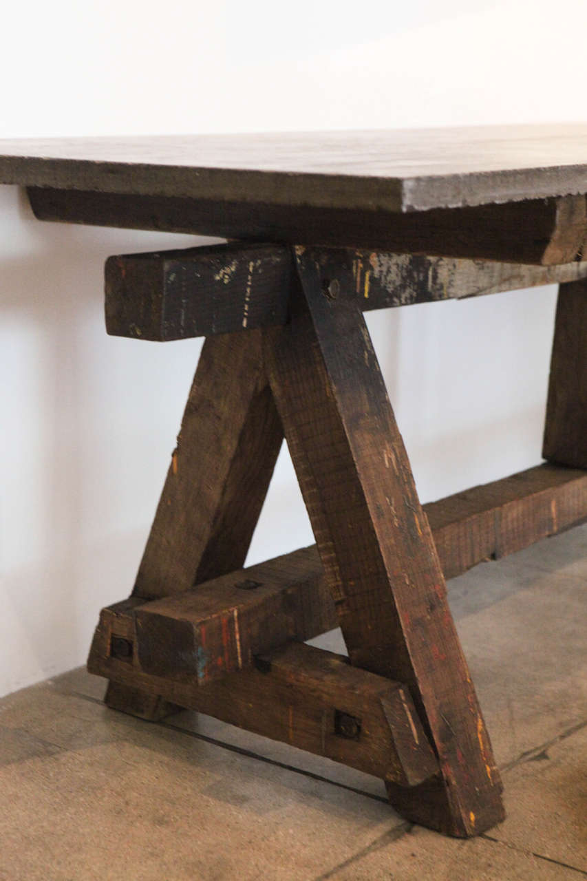Bluestone Work Table , France, 18th Century In Good Condition In Los Angeles, CA