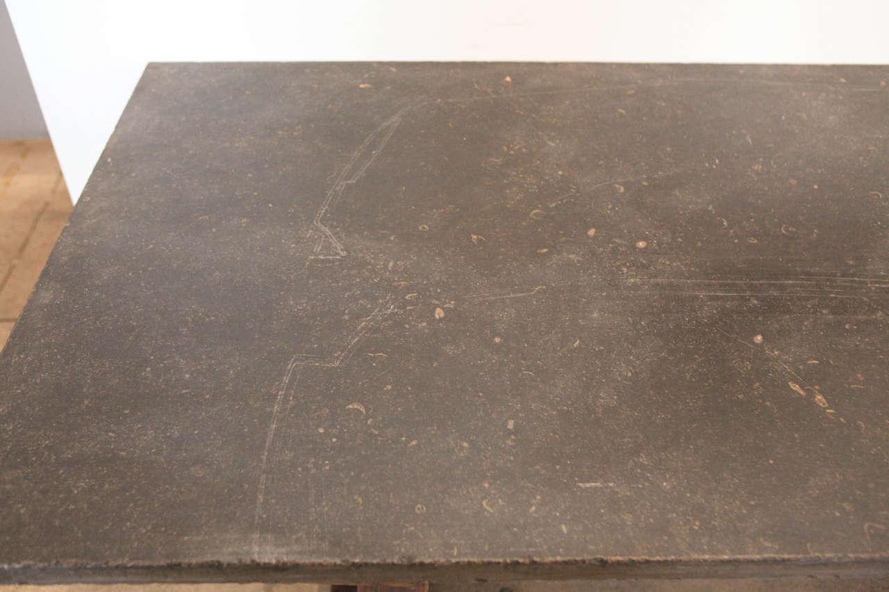 Bluestone Work Table , France, 18th Century 2