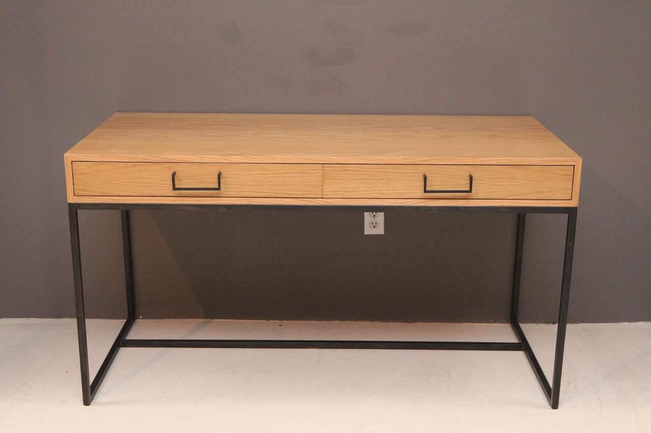 The Thin Frame Desk Has Two Drawers Each With Its Own Pencil Tray And Features