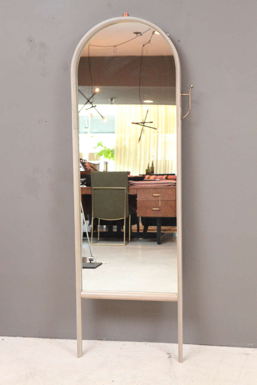 Paniolo Floor Mirror by O&G Studio in Oyster Stain on Ash Wood  2