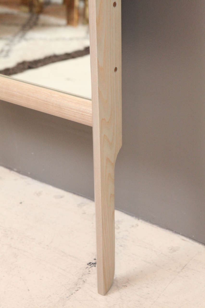Paniolo Floor Mirror by O&G Studio in Oyster Stain on Ash Wood  5