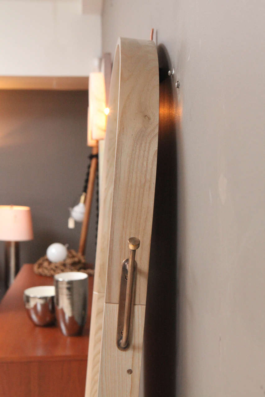 Paniolo Floor Mirror by O&G Studio in Oyster Stain on Ash Wood  6