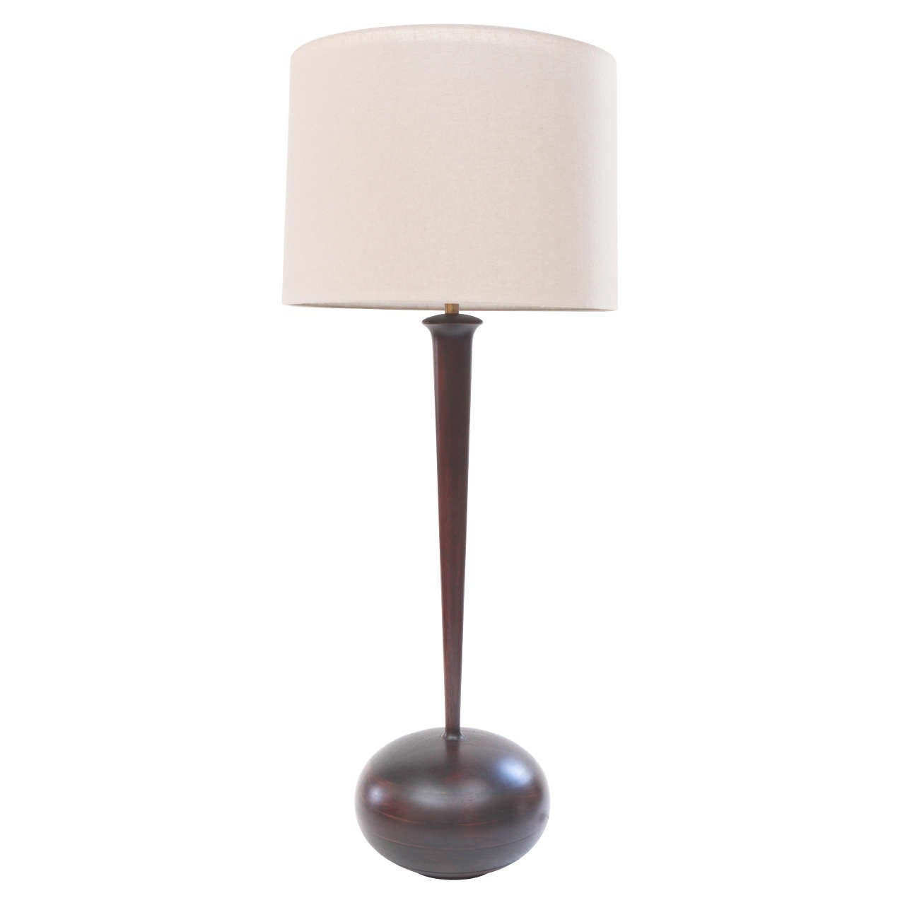 mid century wooden table lamp at 1stdibs. Black Bedroom Furniture Sets. Home Design Ideas