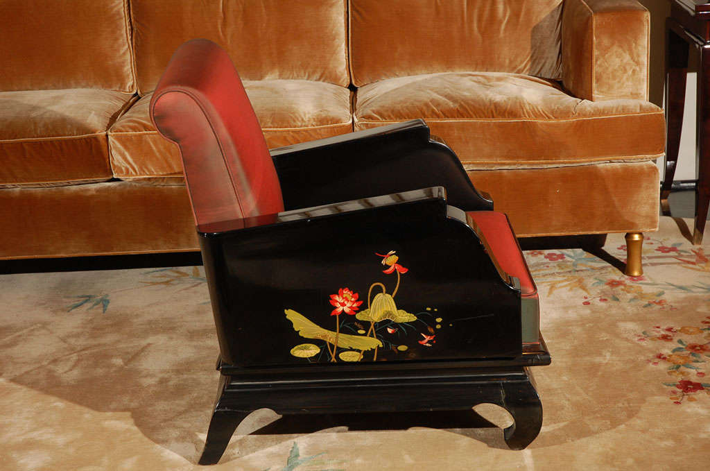 Pair Of Hand Painted Chinoiserie Armchairs For Sale At 1stdibs