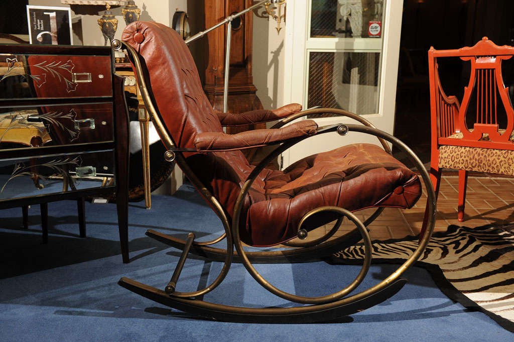 "19th C. ""Innovative""   American  Rocking Chair image 4"