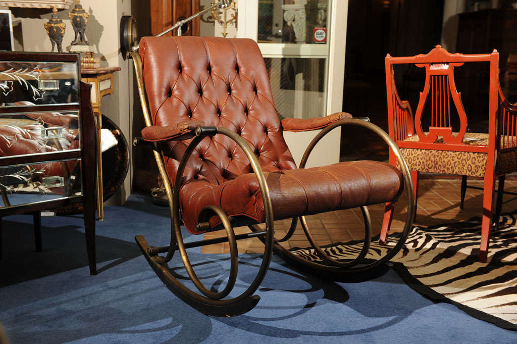 "19th C. ""Innovative""   American  Rocking Chair image 2"