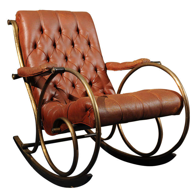 "19th C. ""Innovative""   American  Rocking Chair"