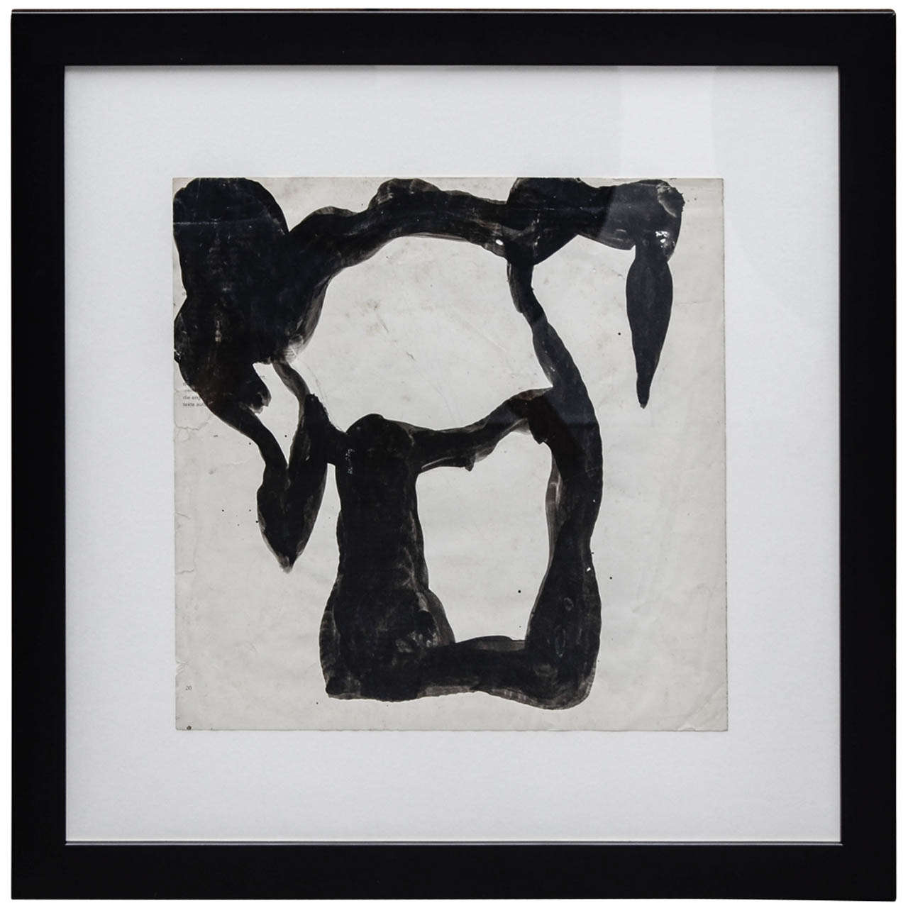 Jean Hans Arp, Paper Cutting Painted with Indian Ink For Sale
