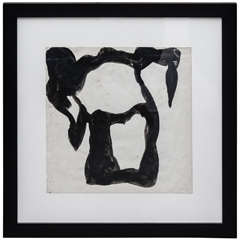 Jean Hans Arp, Paper Cutting Painted with Indian Ink