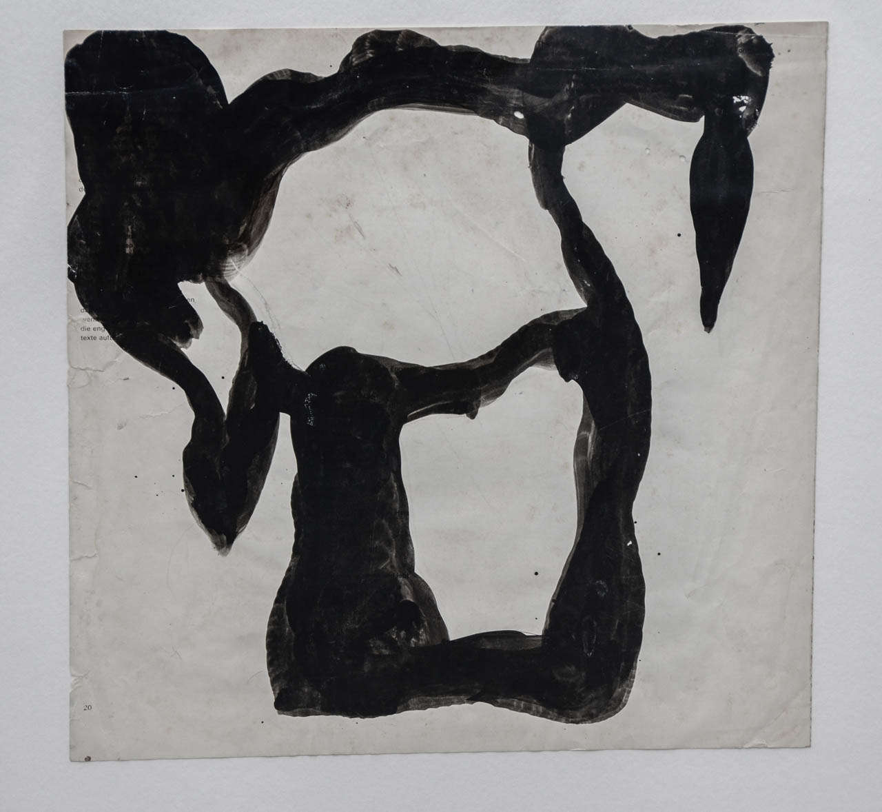 Jean Hans Arp, Paper Cutting Painted with Indian Ink In Good Condition For Sale In Paris, FR