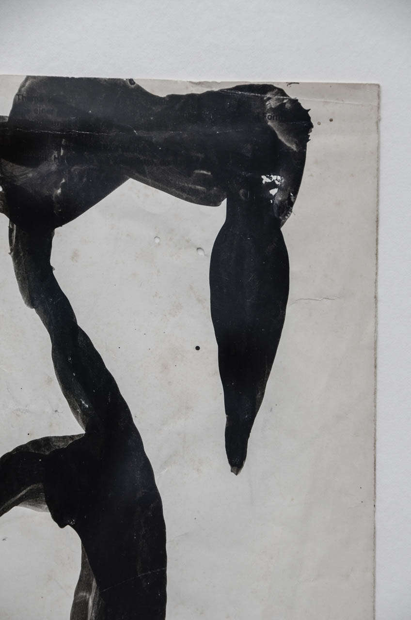 Mixed Media Jean Hans Arp, Paper Cutting Painted with Indian Ink For Sale