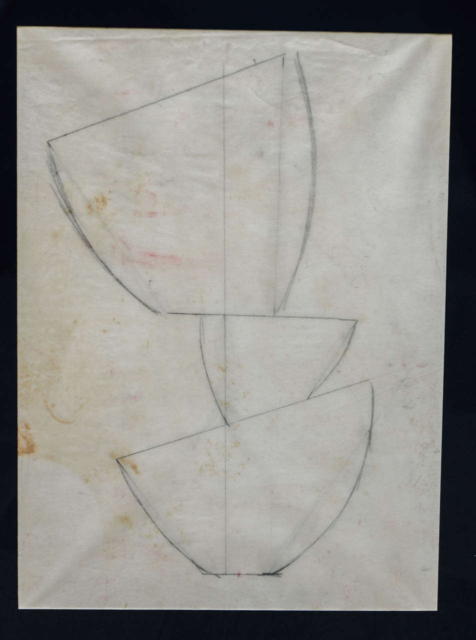 Jean Hans Arp, Pencil Drawing In Good Condition For Sale In Paris, FR