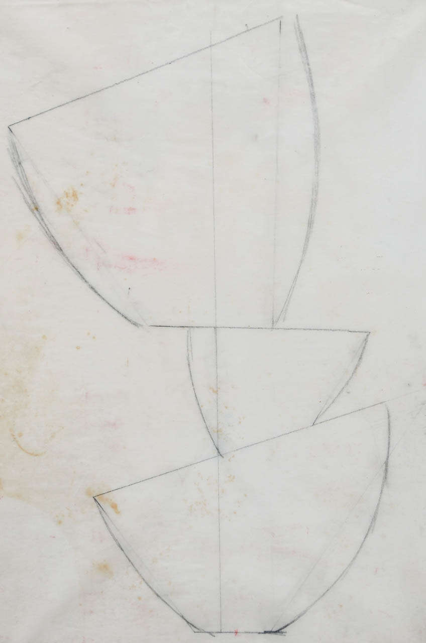 Mid-20th Century Jean Hans Arp, Pencil Drawing For Sale