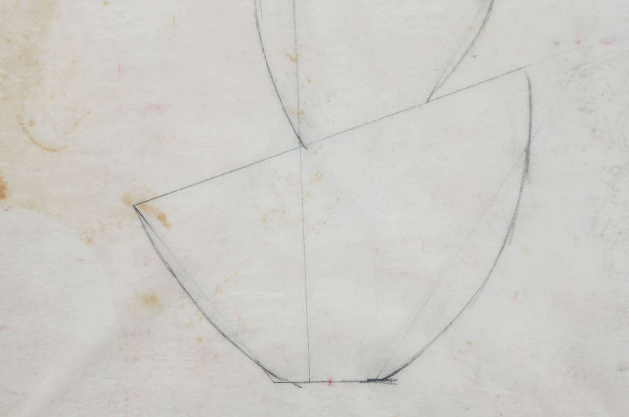 Paper Jean Hans Arp, Pencil Drawing For Sale