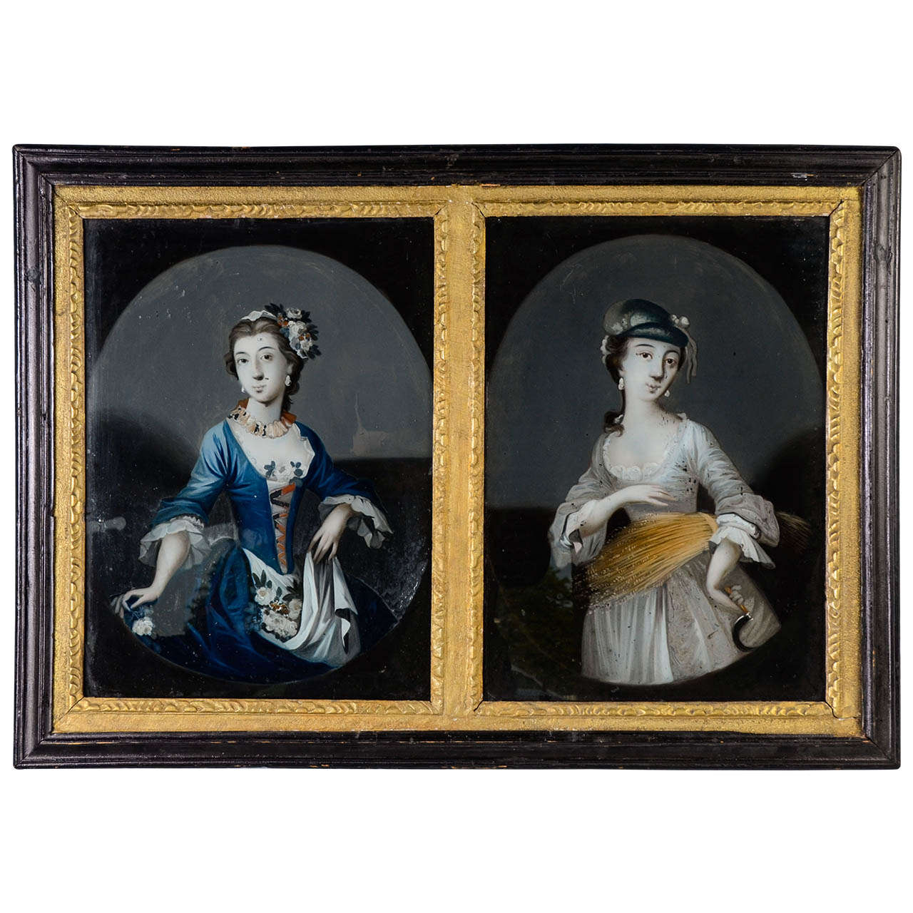 Spring and Summer Painting Under Glass (18th Century)