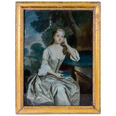 18th Century English Painting Under Glass